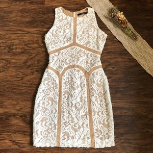 Ark & Co Ivory Lace Bodycon Dress S